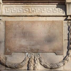 La plaque du Bastion Saint-Martin restaurée aujourd'hui - Photos : Flore Deronzier